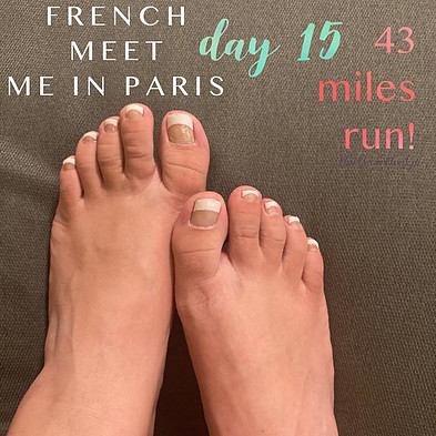 Runner French Tips Pedicure