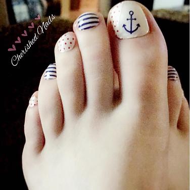 Wide toenail pedicure