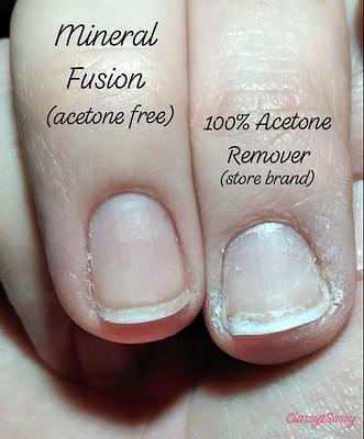 Acetone vs mineral fusion
