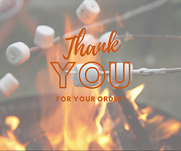 marshmallow, campfire, roast, thank you, order