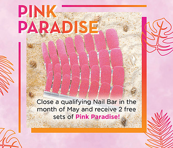 pink paradise, qualifying nail bar, color street